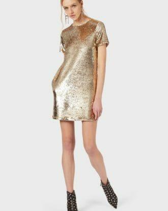 złota sukienka cekinowa emporio armani 6