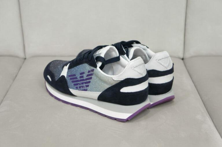 sneakersy damskie z brokatem emporio armani 1