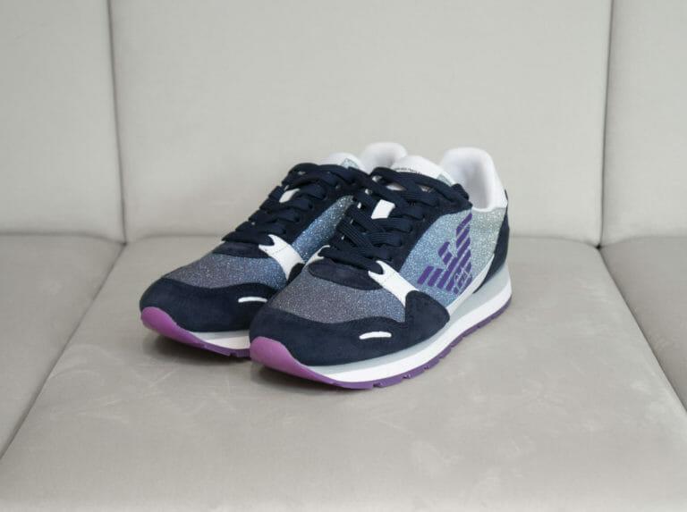 sneakersy damskie z brokatem emporio armani 2