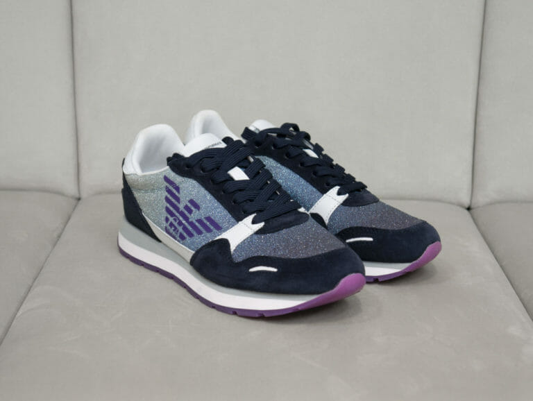 sneakersy damskie z brokatem emporio armani 3
