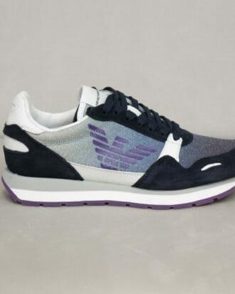 sneakersy damskie z brokatem emporio armani 4