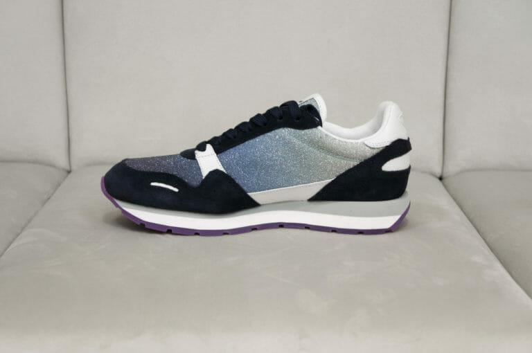 sneakersy damskie z brokatem emporio armani 5