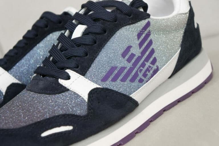 sneakersy damskie z brokatem emporio armani 6