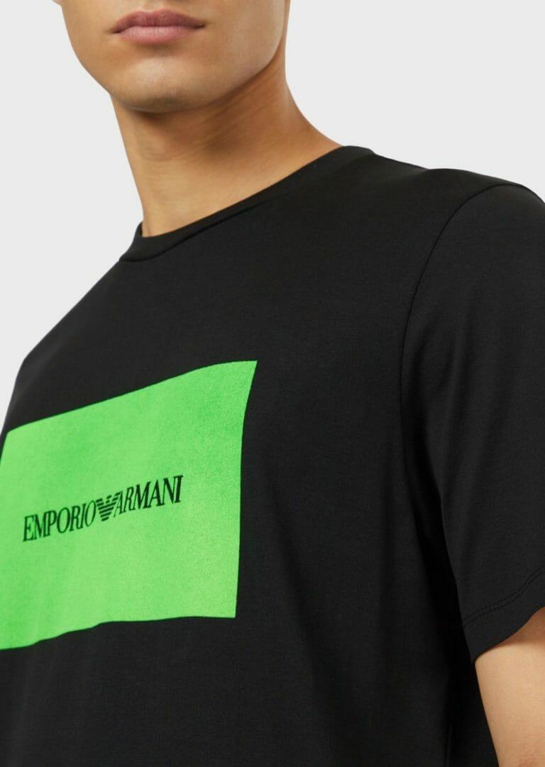 t shirt meski emporio armani ea7 czarno zielony 1