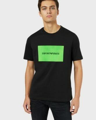 t shirt meski emporio armani ea7 czarno zielony 2