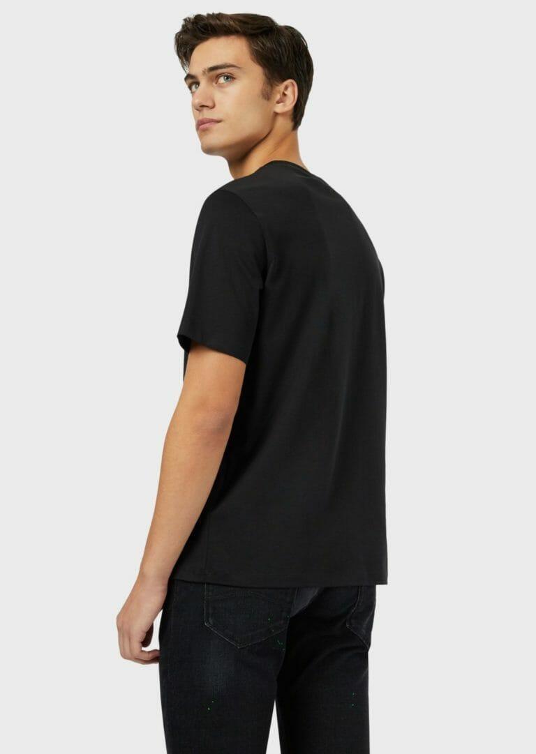t shirt meski emporio armani ea7 czarno zielony 3