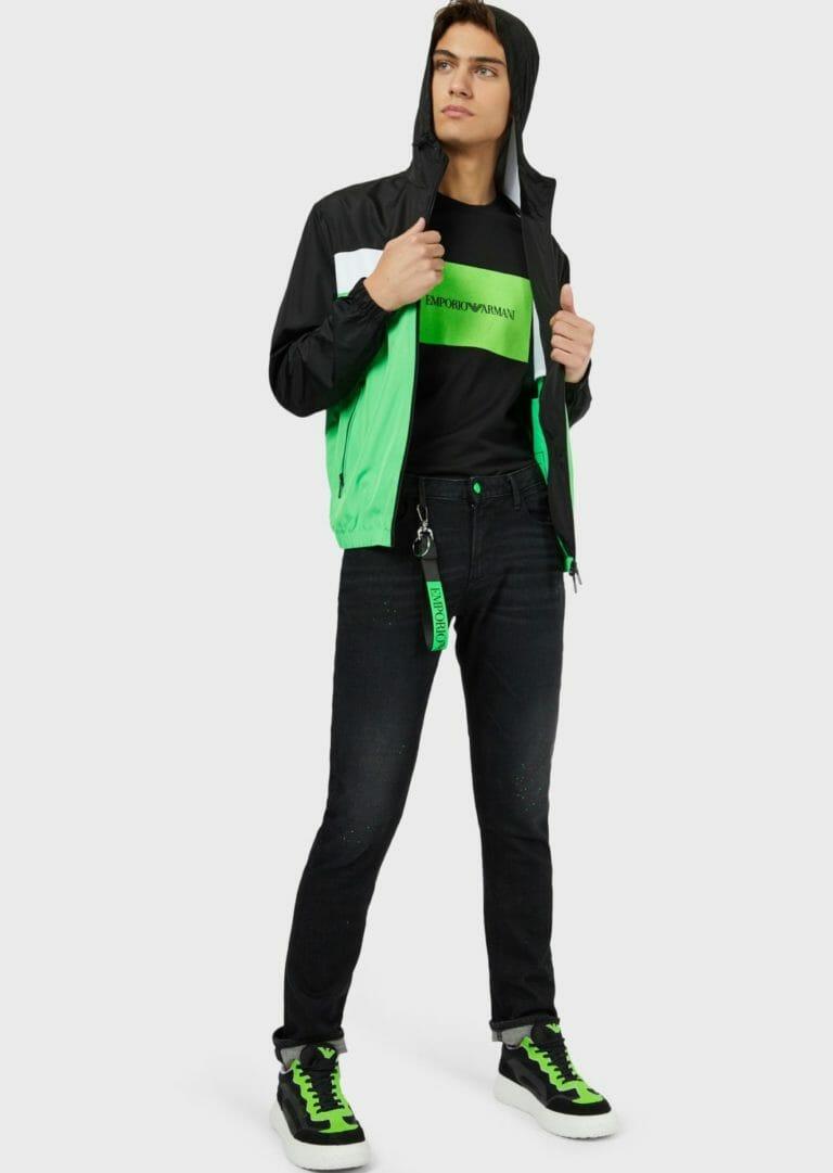 t shirt meski emporio armani ea7 czarno zielony 5