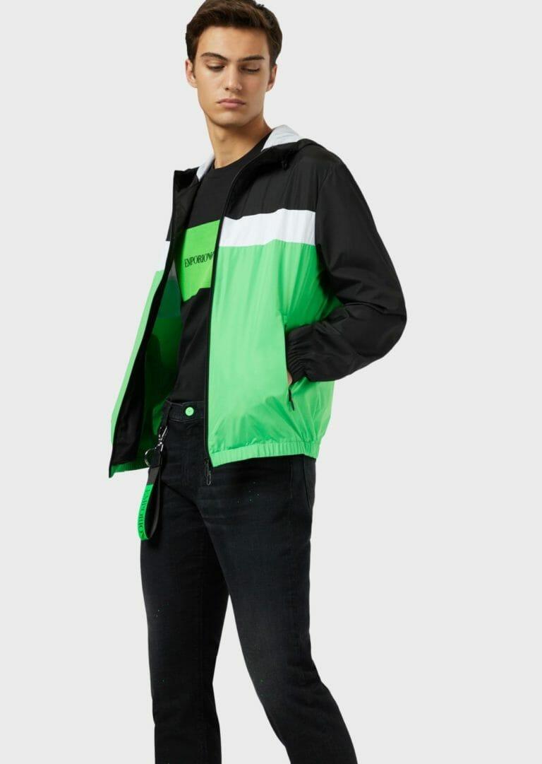 t shirt meski emporio armani ea7 czarno zielony 6