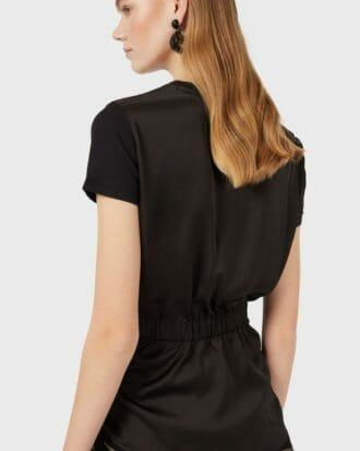 Czarny t shirt taliowany emporio armani 1