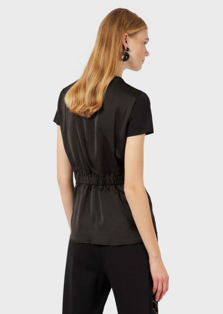 Czarny t shirt taliowany emporio armani 3