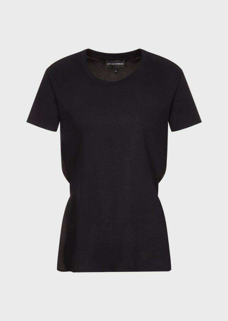 Czarny t shirt taliowany emporio armani 4