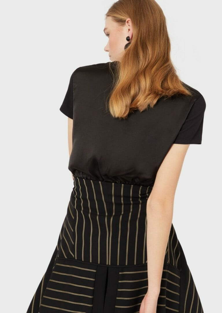 Czarny t shirt taliowany emporio armani 6