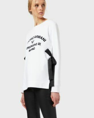 biala bluza ze wstazkami emporio armani 2