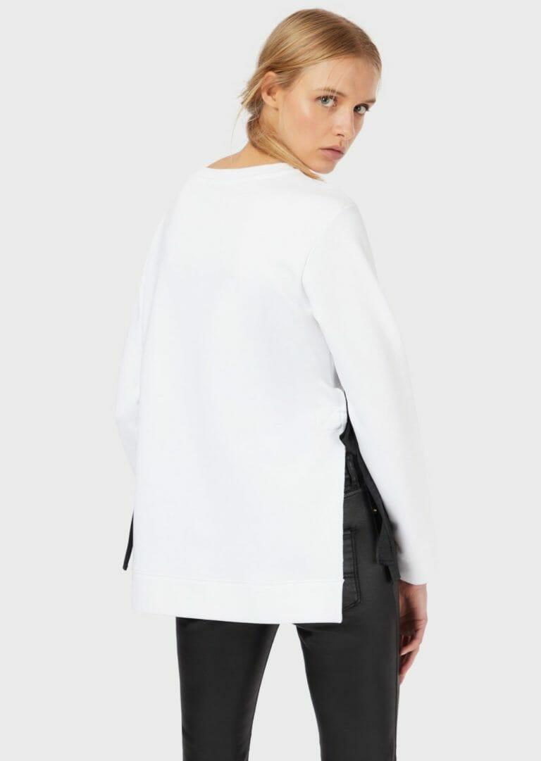 biala bluza ze wstazkami emporio armani 3