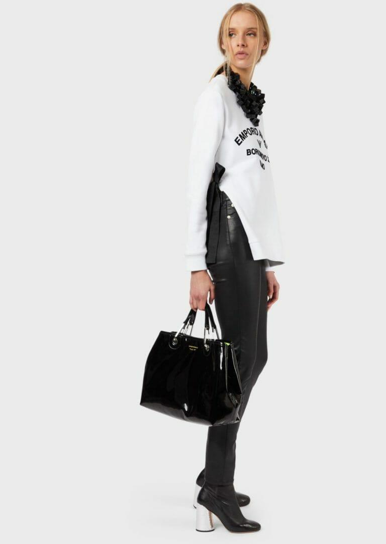 biala bluza ze wstazkami emporio armani 5