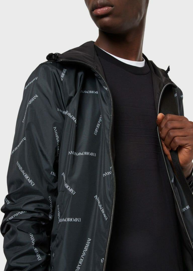 czarna bluza meska emporio armani z wytloczonym logo 1