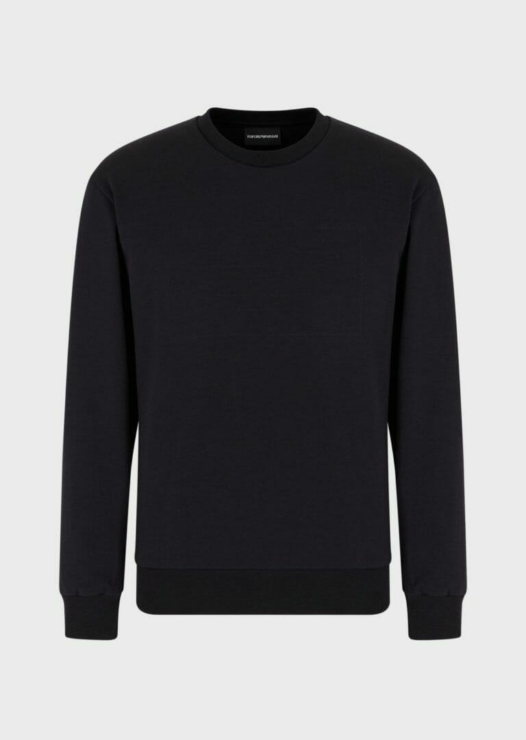 czarna bluza meska emporio armani z wytloczonym logo 4