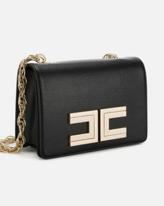 czarna listonoszka torebka z logo elisabetta franchi3