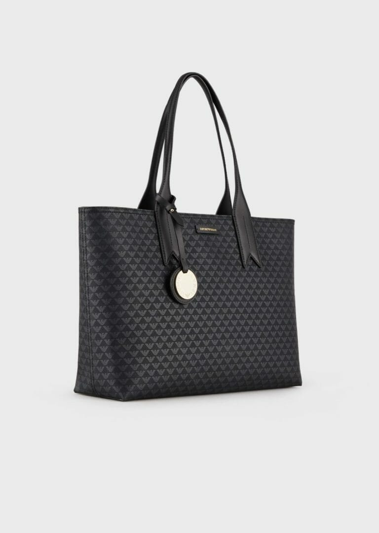 czarna shopperka emporio armani z logo 5