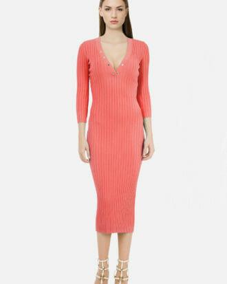 grejfrutowa sukienka elisabetta franchi