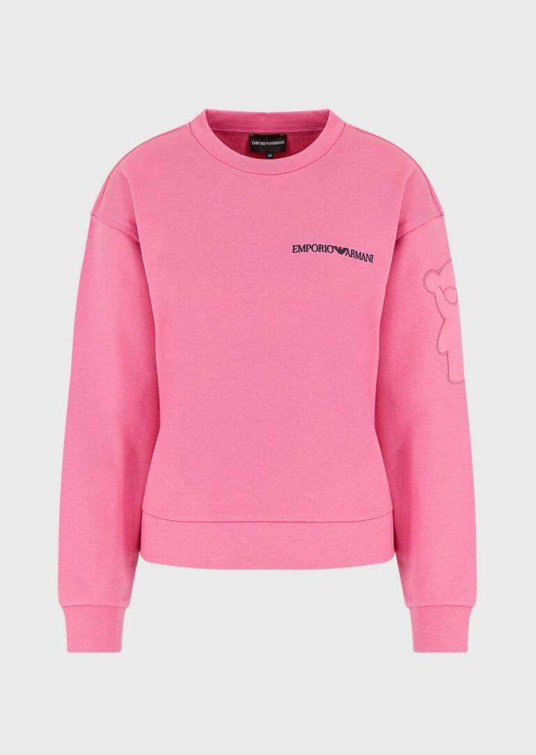 rozowa bluza emporio armani manga bear fuksja damska 4