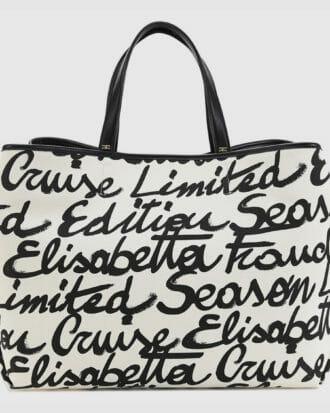 Torebka w print podpis Elisabetta Franchi shopper bag 1
