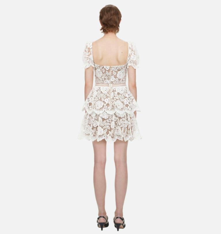 biala koronkowa zwiewna sukienka self portrait 2