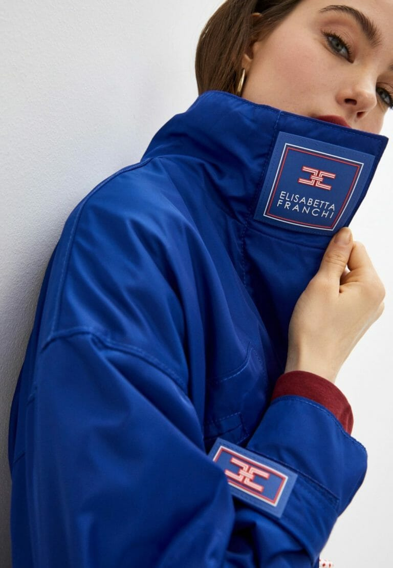 elisabetta franchi niebieska kurtka chabrowa kobaltowa 1