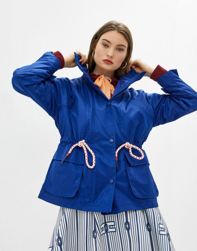 elisabetta franchi niebieska kurtka chabrowa kobaltowa 2