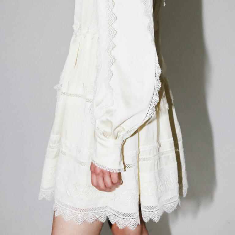 kremowa mini sukienka koronkowa self portriat 1