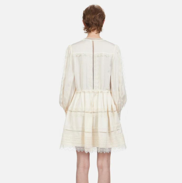 kremowa mini sukienka koronkowa self portriat 3