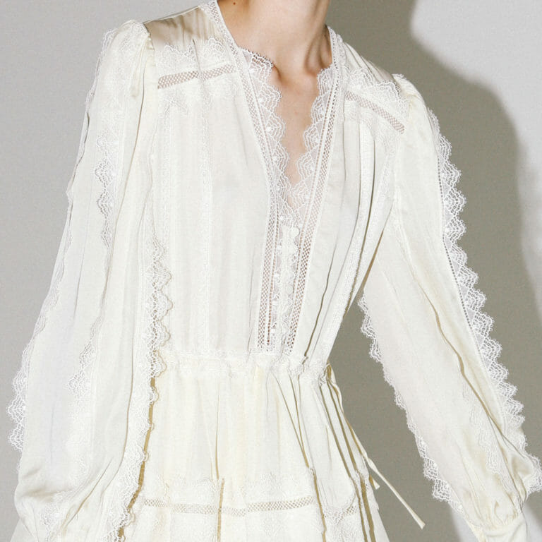 kremowa mini sukienka koronkowa self portriat 5