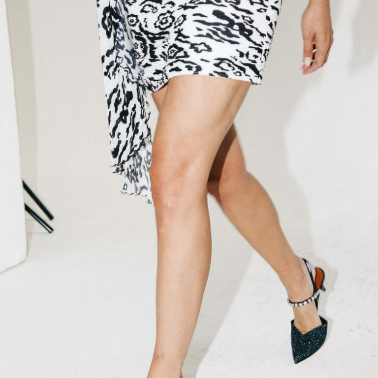 spodnica w gepardzie cetki plisowana krotka 1