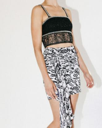 spodnica w gepardzie cetki plisowana krotka 5