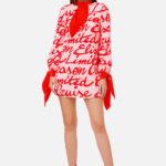 Sukienka mini z prostym fasonem - Elisabetta Franchi