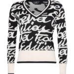 Sweter z dużym printem - Elisabetta Franchi