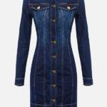 Mini sukienka jeansowa - Elisabetta Franchi