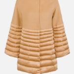 Kamelowy krótki płaszcz - Elisabetta Franchi